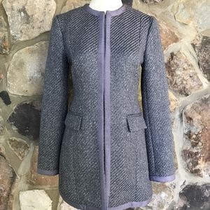 Banana Republic Grey Tweed Wool Coat XS